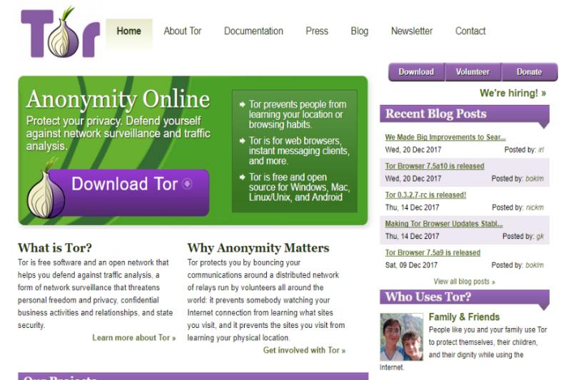 Browser Tor untuk akses Deepweb