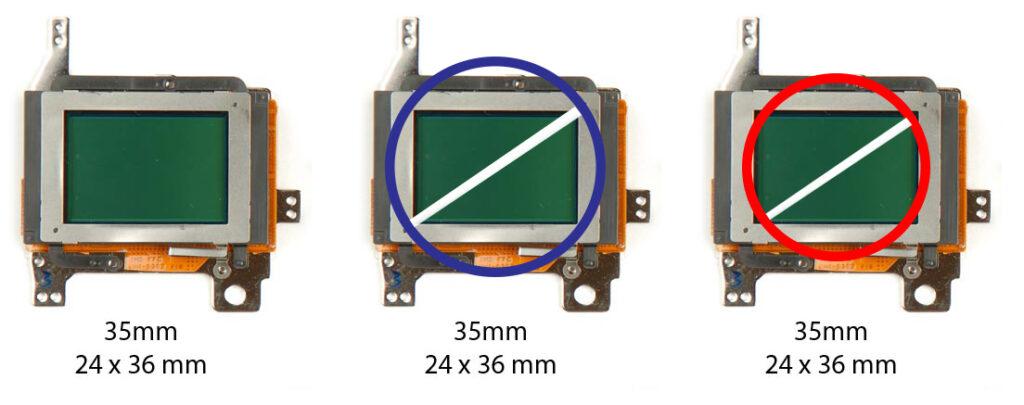 Diagonal lensa pada Sensor kamera