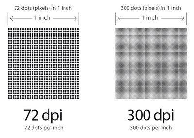 Perbedaan 72 dpi dan 300 dpi