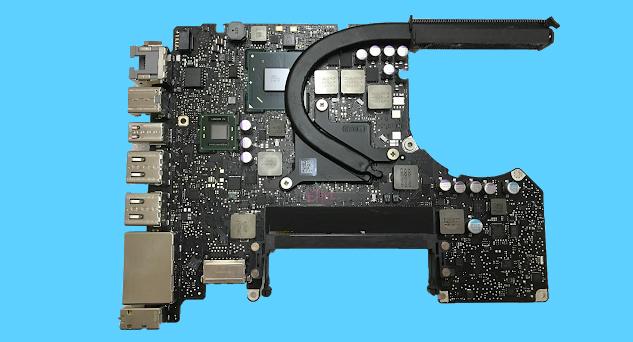 Posisi VGA di Mother Board Macbook Pro 2012