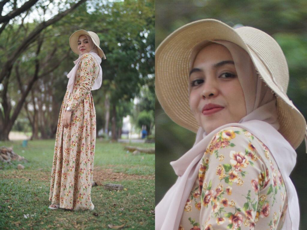 Floral Dress Cantik dan manis Seksi Ibu Rifda