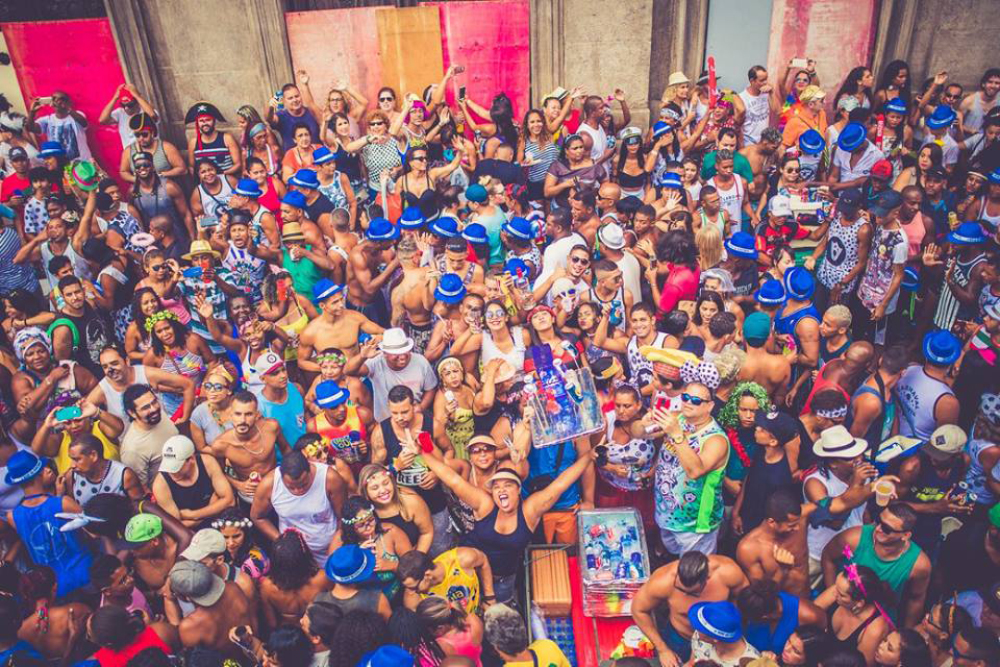 Suasanan hiruk Pikuk Carnaval Rio De Jenerio Brazil