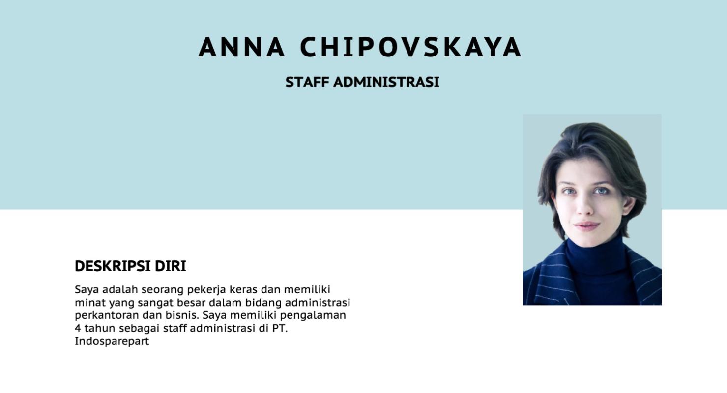 Contoh Staff Administrasi Perkantoran