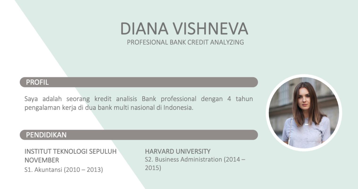 Contoh CV terbaru untuk pekerjaan dan posisi HRD di Bank