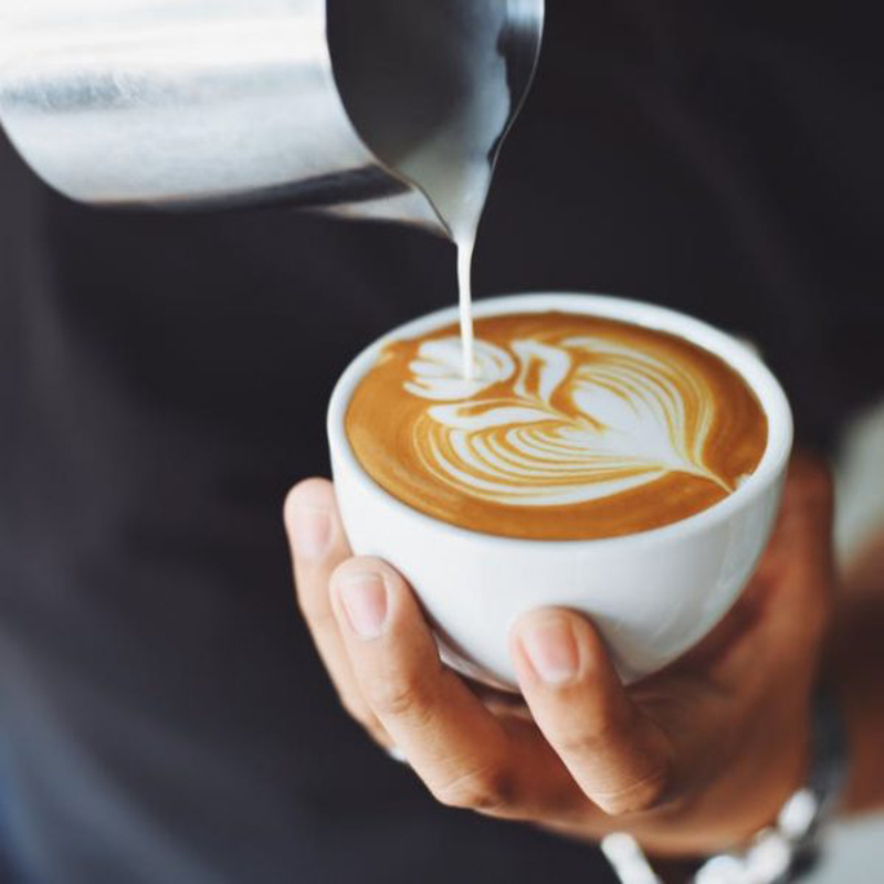 Contoh Latte Art Tulis Capuchino
