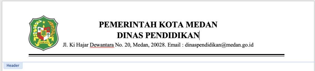 Contoh KOP Surat yang rremsi dan formal dari dinas pendidikan