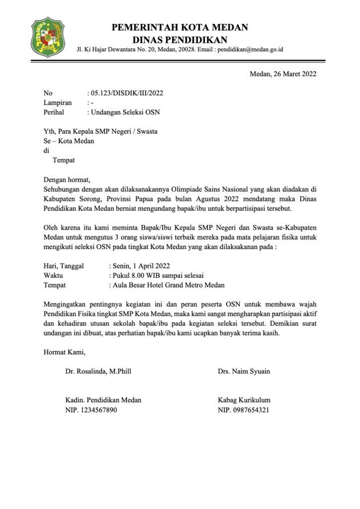 Contoh Surat Resmi dan Formal