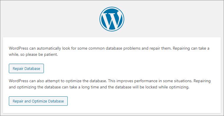 Pesan Muncul untuk WordPress repair database