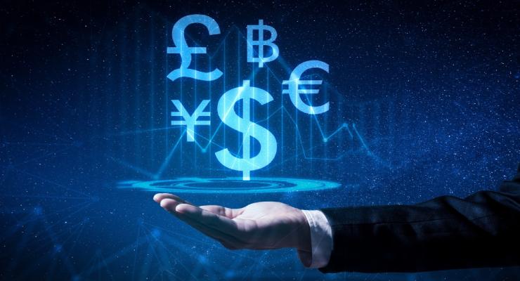 Ilustrasi Trading Forex keren dengan uang besar